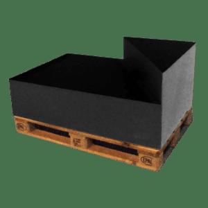 ascona dreieck-lehne rechts - schwarz mieten rent-a-lounge 1