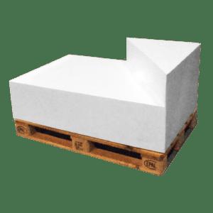 ascona dreieck-lehne rechts - weiss mieten rent-a-lounge