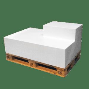 ascona rechteck-lehne rechts - weiss mieten rent-a-lounge