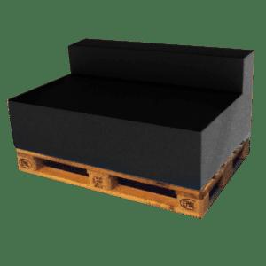 ascona rückenlehne - schwarz mieten rent-a-lounge