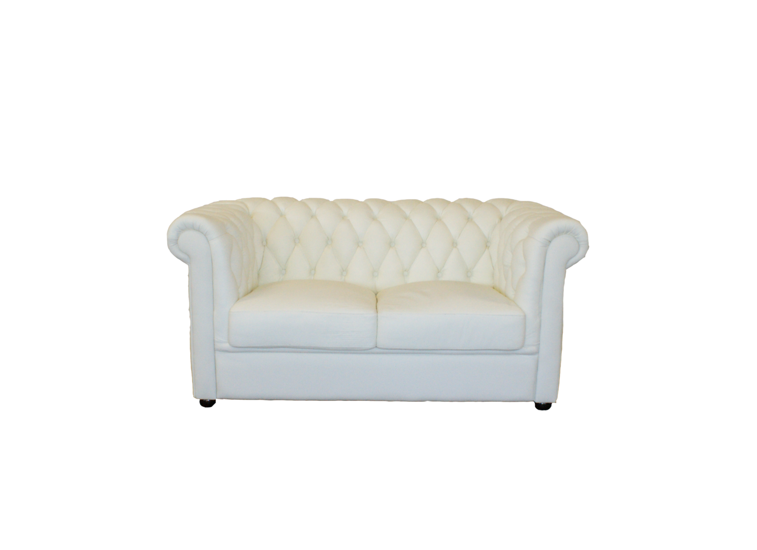 Chesterfield White 2er Sofa Rent A Lounge