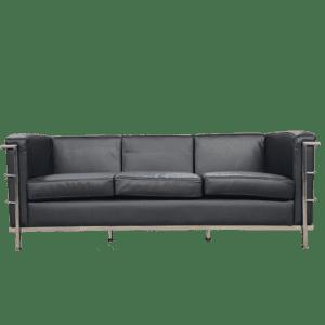 Classic 3er Sofa - schwarz mieten rent-a-lounge