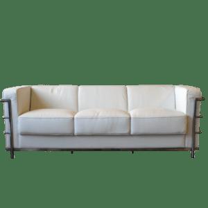 Classic 3er Sofa - weiss mieten rent-a-lounge