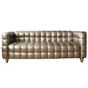 Glamour 3er Sofa - Leder, gold mieten rent-a-lounge