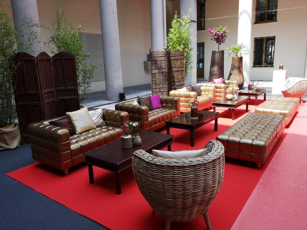 Glamour Daybed mieten rent-a-lounge