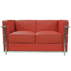 red 2er sofa mieten rent-a-lounge