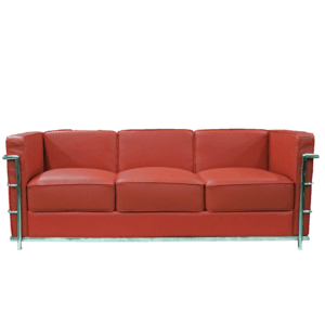 red 3er sofa mieten rent-a-lounge