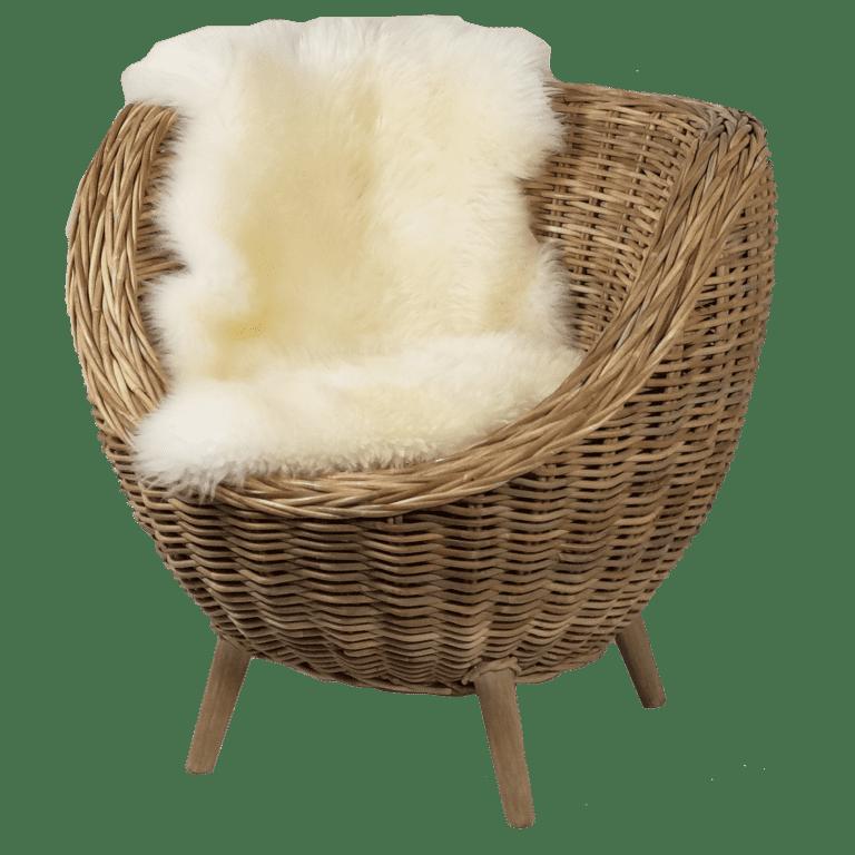 sempre egg chair - mit Lammfell mieten rent-a-lounge