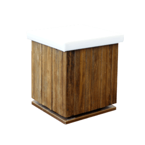 hocker wood - weiss mieten rent-a-lounge