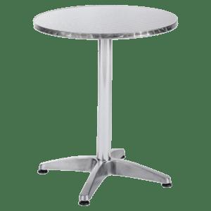 bistrotisch aluminium mieten rent-a-lounge