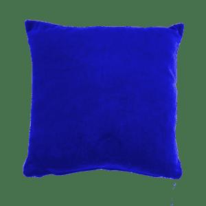 dekokissen samt - blau dunkel, 25x25cm mieten rent-a-lounge