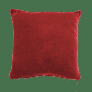 dekokissen samt - rot, 35x35cm mieten rent-a-lounge