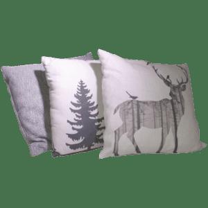 dekokissen style - Alpen Chic, grau mieten rent-a-lounge