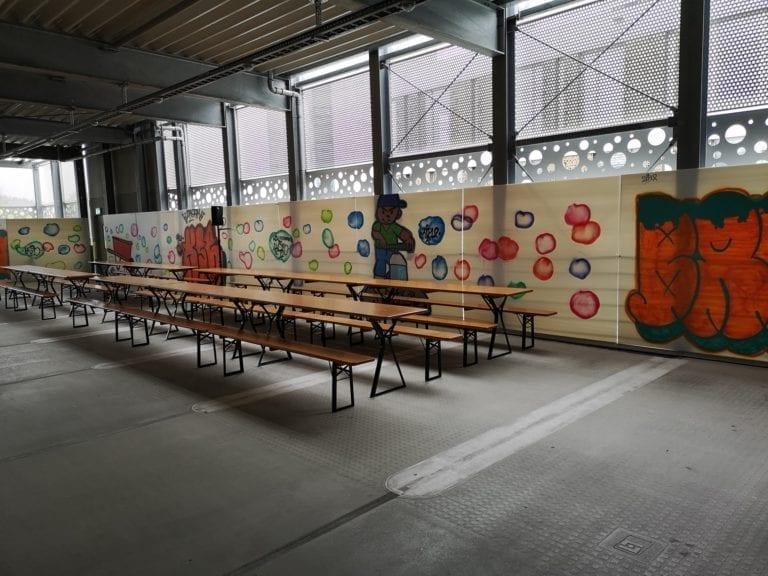 Festbank Tisch mieten rent-a-lounge 1