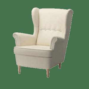 ohrensessel - weiss mieten rent-a-lounge