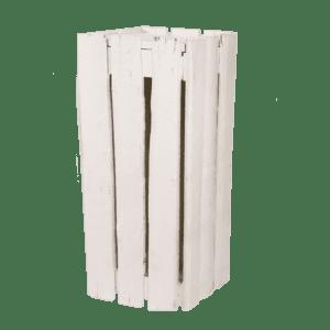 stehkube holzplanken - weiss, 50x50x110cm mieten rent-a-lounge