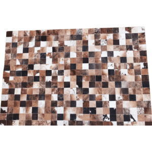 kuhfell patchwork braun mieten rent-a-lounge