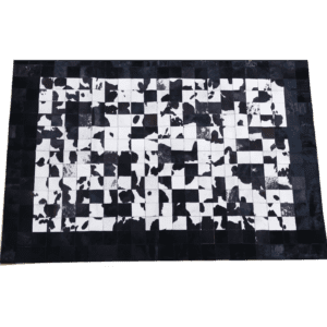 kuhfell patchwork schwarz mieten rent-a-lounge
