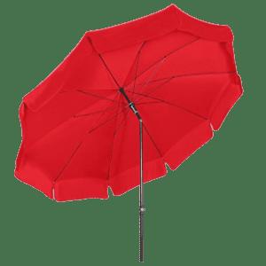 terrassenschirm - rot mieten rent-a-lounge