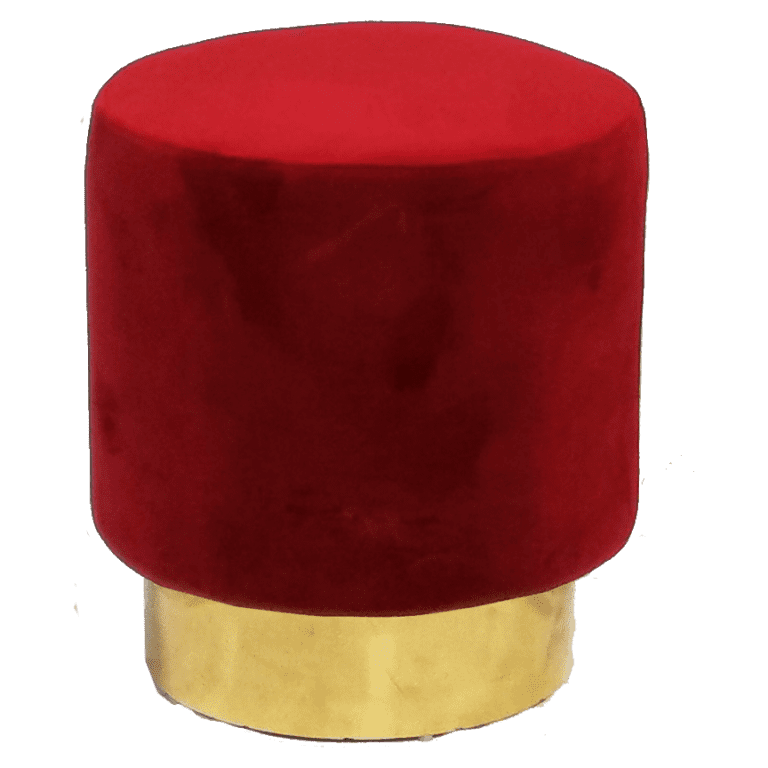 velvet hocker - bordeaux rot mieten rent-a-lounge