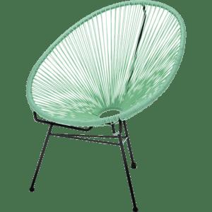 spaghetti sessel - grün hell mieten rent-a-lounge