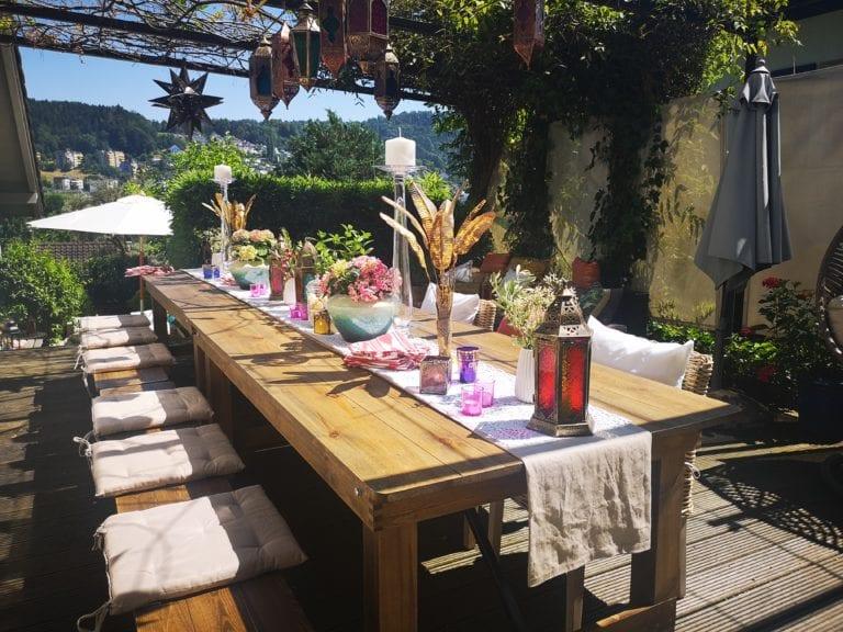 Boho Gartenparty mieten rent-a-lounge 6