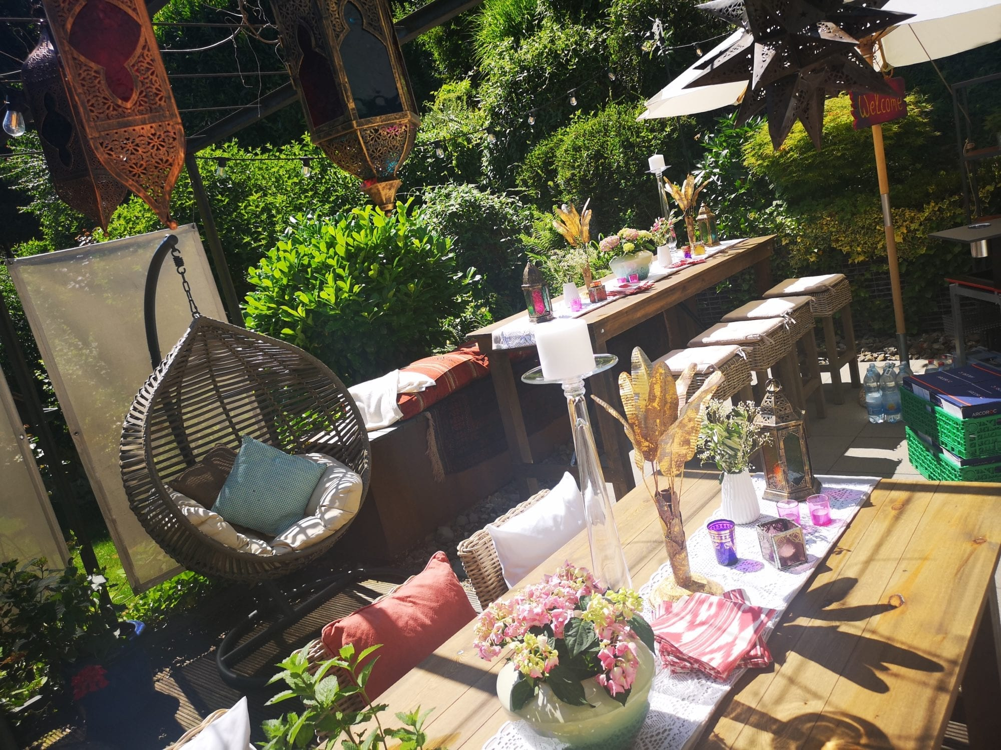 Boho Gartenparty mieten rent-a-lounge 5