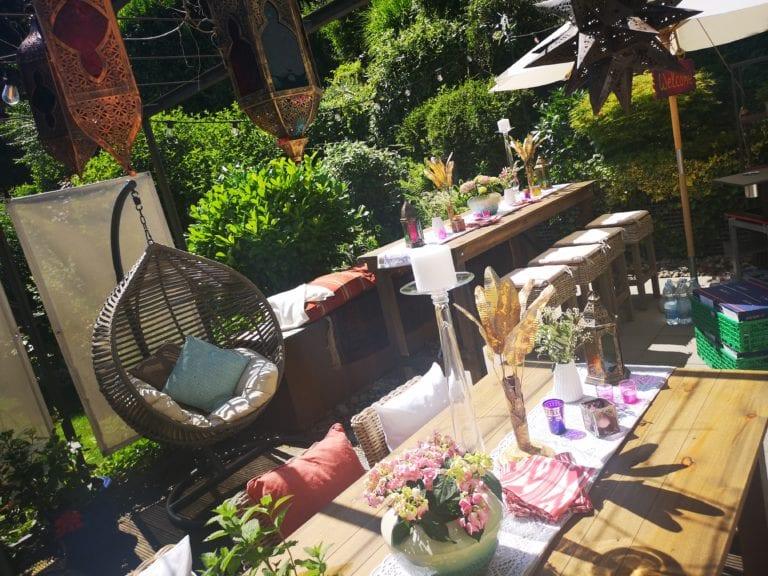 Boho Gartenparty mieten rent-a-lounge 5