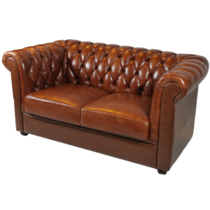 chesterfield english 2er sofa - braun mieten rent-a-lounge
