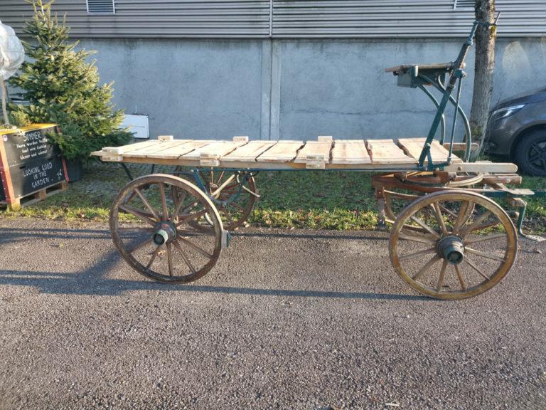 Holzwagen natur mieten rent-a-lounge 4