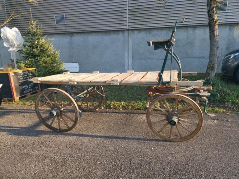 Holzwagen natur mieten rent-a-lounge